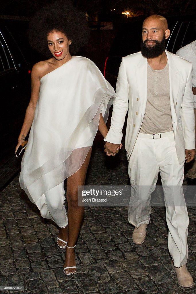 Solange Knowles Marries Alan Ferguson - Rehearsal Dinner : ニュース写真