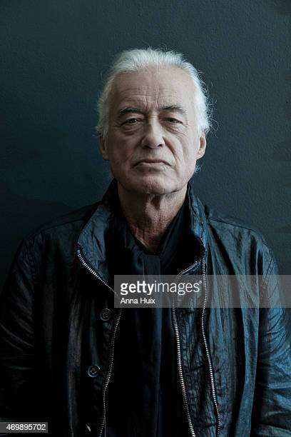 Musician songwriter multiinstrumentalist and record producer Jimmy Page is photographed for the Financial Times on October 27 2014 in London England