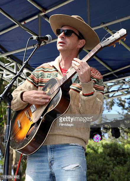 Musician Sonny Smith of the band Sonny the Sunsets performs at the Panhandle Solar Stage during the 2011 Outside Lands Music And Arts Festival at...