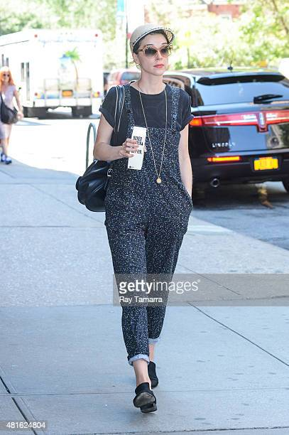 Musician St Vincent enters a Tribeca hotel on July 22 2015 in New York City