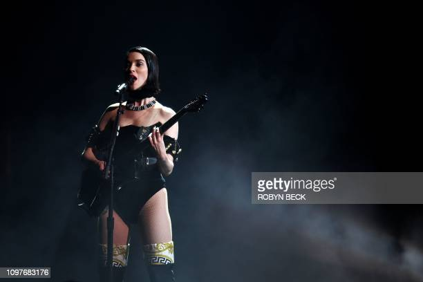 US musician St Vincent performs onstage during the 61st Annual Grammy Awards on February 10 in Los Angeles