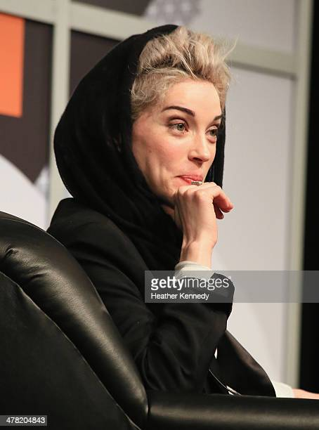 Musician St Vincent speaks onstage at SXSW Interview St Vincent during the 2014 SXSW Music Film Interactive at Austin Convention Center on March 12...