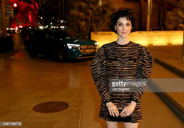 Musician St Vincent wearing Gucci attends 2018 LACMA Art Film Gala honoring Catherine Opie and Guillermo del Toro presented by Gucci at LACMA on...