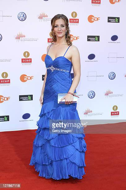 Musician Stefanie Maschke attends the Echo Klassik 2011 award ceremony at Konzerthaus am Gendarmenmarkt on October 2, 2011 in Berlin, Germany.