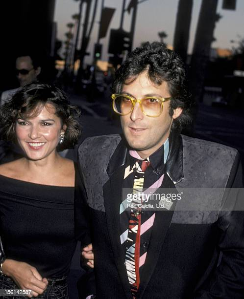 Musician Stephen Bishop and wife attend the premiere of 'Purple Rain' on July 26 1984 at Mann Chinese Theater in Hollywood California