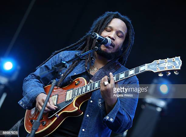 Musician Stephen Marley performs at Verizon Wireless Amphitheater on July 11 2009 in Irvine California