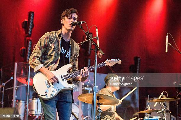 Musician Stephen Salisbury of Groves performs on stage at Humphrey's on August 24 2016 in San Diego California