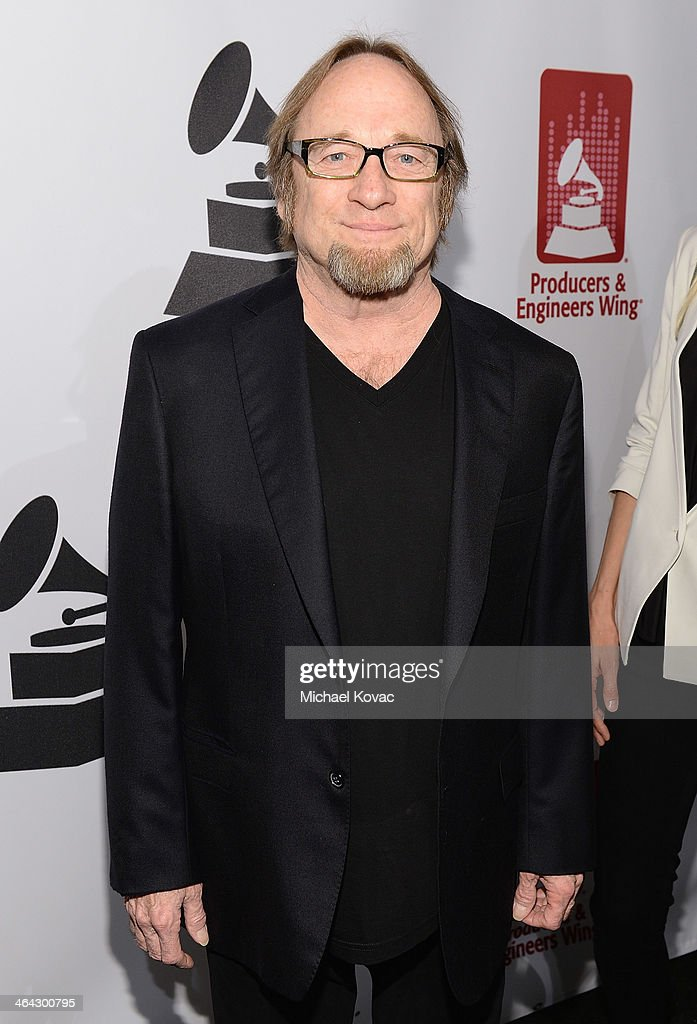Musician Stephen Stills arrives at the 56th GRAMMY Awards P&E Wing Event Honoring Neil Young at The Village Recording Studios on January 21, 2014 in Los Angeles, California.