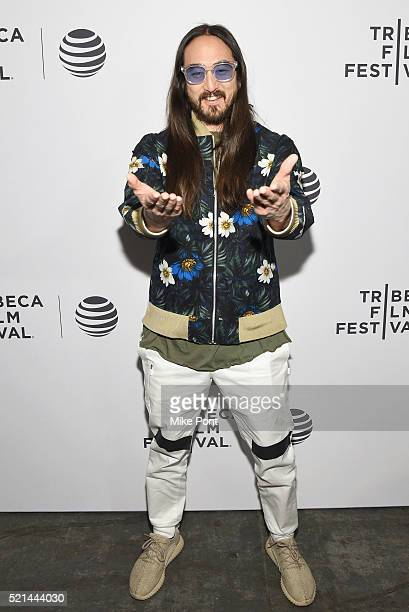 Musician Steve Aoki attends the 'I'll Sleep When I'm Dead' premiere during 2016 Tribeca Film Festival at Beacon Theatre on April 15 2016 in New York...