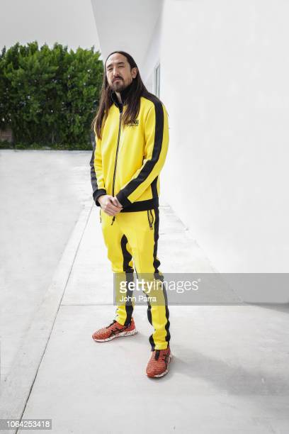 Musician Steve Aoki poses for a portrait on November 2 2018 in Wynwood in Miami Florida