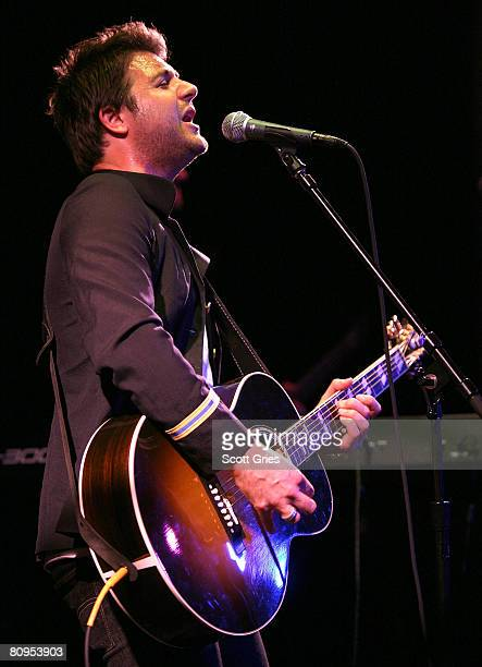 Musician Steve Blaik of Small Mercies performs at the Tribeca ASCAP Music Lounge held at the Canal Room during the 2008 Tribeca Film Festival on May...