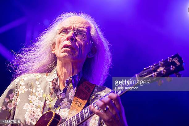 Musician Steve Howe performs on stage with Yes on August 18 2014 in San Diego California