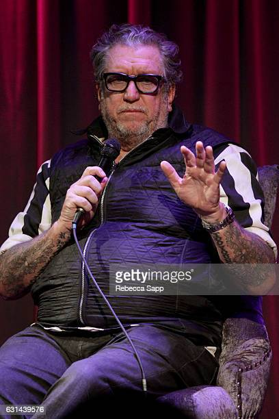 Musician Steve Jones speaks onstage at Lonely Boy Tales of a Sex Pistol With Steve Jones at The GRAMMY Museum on January 10 2017 in Los Angeles...
