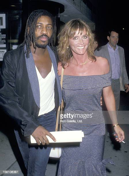 Musician Steve Jordan and Actress Margot Kidder attend the New York City Premiere of 'A Fish Called Wanda' on July 7 1988 at Walter Reade Auditorium...