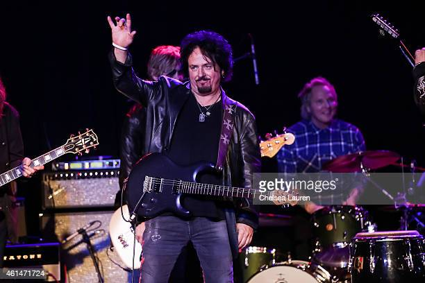 Musician Steve Lukather performs at the Adopt the Arts benefit concert at The Roxy Theatre on January 12 2015 in West Hollywood California