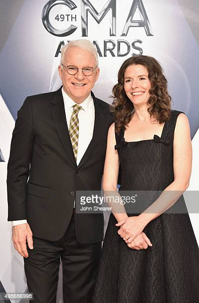 Musician Steve Martin and Edie Brickell attend the 49th annual CMA Awards at the Bridgestone Arena on November 4 2015 in Nashville Tennessee