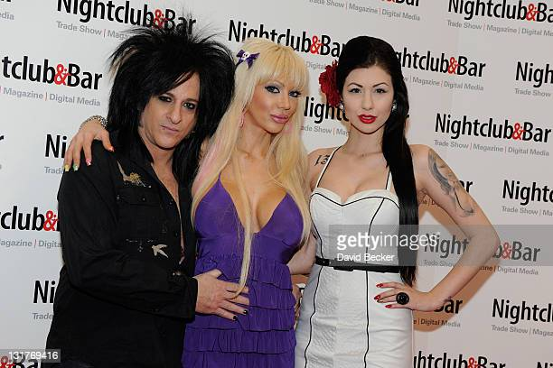 Musician Steve Stevens television personality Josie Stevens and Lea Lorraine arrive at the 26th Annual Nightclub Bar Convention and Trade Show at the...