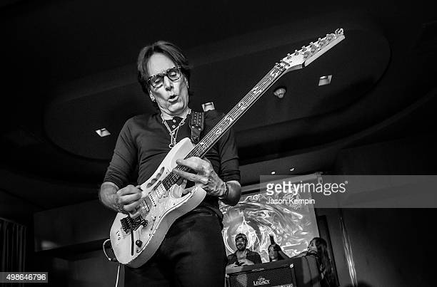 Musician Steve Vai attends An Evening Of Art And Music With Steve Vai at Sofitel Hotel on November 24, 2015 in Los Angeles, California.