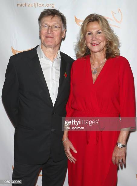 Musician Steve Winwood and Eugenia Winwood attend A Funny Thing Happened on the Way to Cure Parkinson's 2018 at the Hilton New York on November 10...