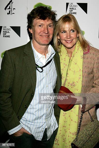 Musician Steve Winwood and his wife Eugenia arrive at the live final of the UK Music Hall Of Fame 2005 the culmination of the twoweek Channel 4...