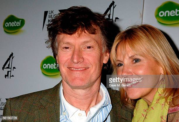 Musician Steve Winwood and wife Eugenia Crafton arrive at the live final of the UK Music Hall Of Fame 2005 the culmination of the twoweek Channel 4...