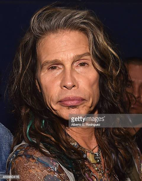 Musician Steven Tyler arrives to the Los Angeles premiere of 'Jimi All Is By My Side' at ArcLight Cinemas on September 22 2014 in Hollywood California