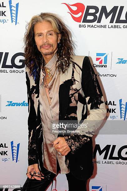 Musician Steven Tyler attends as Big Machine Label Group celebrates The 49th Annual CMA Awards at Rosewall on November 4, 2015 in Nashville,...