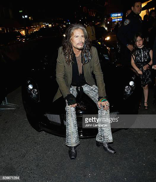 Musician Steven Tyler attends 'Steven TylerOut On A Limb' kick off celebration at Lavo on April 30 2016 in New York City