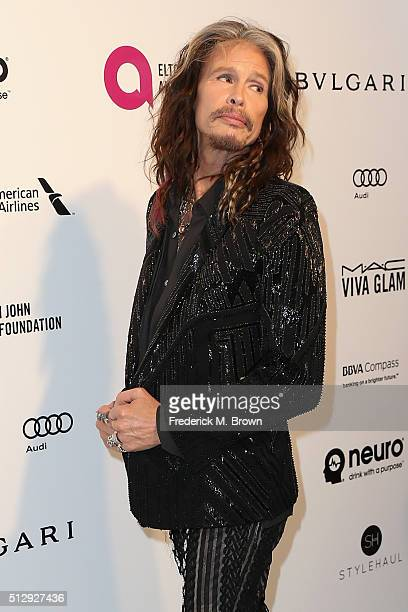 Musician Steven Tyler attends the 24th Annual Elton John AIDS Foundation's Oscar Viewing Party on February 28, 2016 in West Hollywood, California.