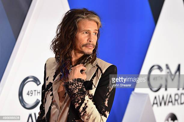 Musician Steven Tyler attends the 49th annual CMA Awards at the Bridgestone Arena on November 4 2015 in Nashville Tennessee