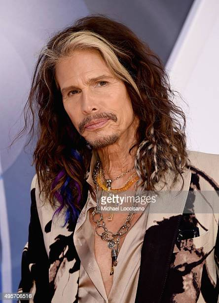 Musician Steven Tyler attends the 49th annual CMA Awards at the Bridgestone Arena on November 4, 2015 in Nashville, Tennessee.