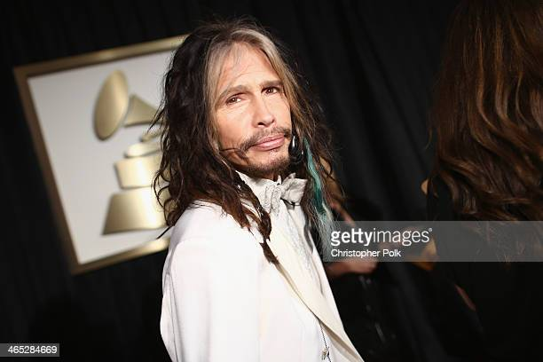 Musician Steven Tyler attends the 56th GRAMMY Awards at Staples Center on January 26 2014 in Los Angeles California