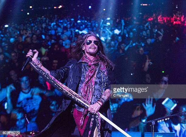 Musician Steven Tyler of Aerosmith performs on the Sunset Cliffs Stage during the 2016 KAABOO Del Mar at the Del Mar Fairgrounds on September 17,...