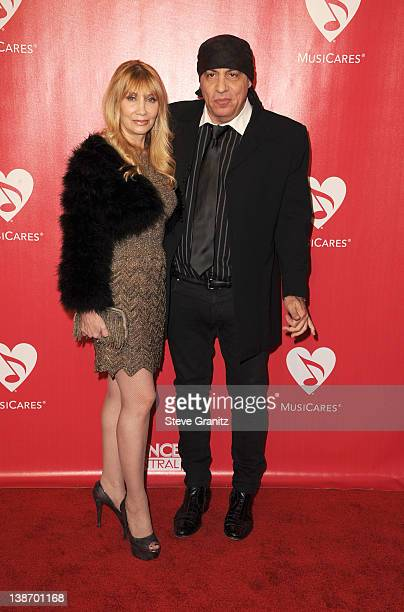 Musician Steven Van Zandt and Maureen Van Zandt arrive at The 2012 MusiCares Person of The Year Gala Honoring Paul McCartney at Los Angeles...
