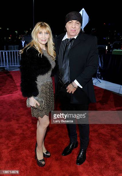 Musician Steven Van Zandt and Maureen Van Zandt arrive at the 2012 MusiCares Person of the Year Tribute to Paul McCartney held at the Los Angeles...