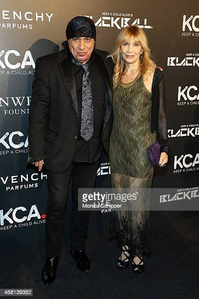 Musician Steven Van Zandt and Maureen Van Zandt attends the 9th annual Keep A Child Alive Black Ball at Hammerstein Ballroom on October 30 2014 in...