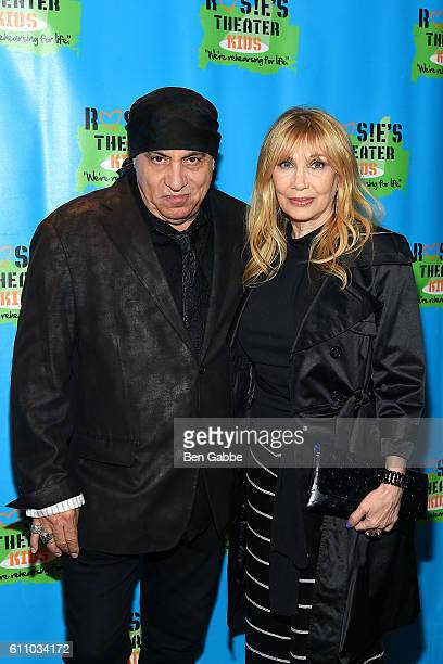 Musician Steven Van Zandt and wife Maureen Van Zandt attend the 13th Annual Rosie's Theater Kids Gala at New York Marriott Marquis Hotel on September...