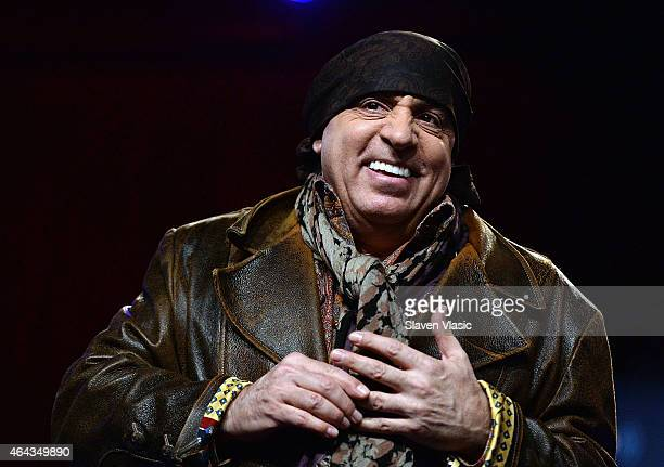 Musician Steven Van Zandt attends the Cousin Brucie Presents The British Invasion at Hard Rock Cafe New York on February 24 2015 in New York City