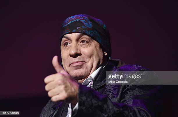 Musician Steven Van Zandt speaks at The 6th Annual Little Kids Rock Benefit presented by Guitar Center at the Hammerstein Ballroom on October 23 2014...