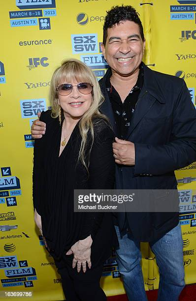 Musician Stevie Nicks and musician Pat Smear arrives at the screening of 'In Your DreamsStevie Nicks' during the 2013 SXSW Music Film Interactive...