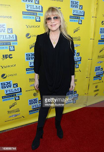 Musician Stevie Nicks arrives at the screening of 'In Your DreamsStevie Nicks' during the 2013 SXSW Music Film Interactive Festival at the Paramount...