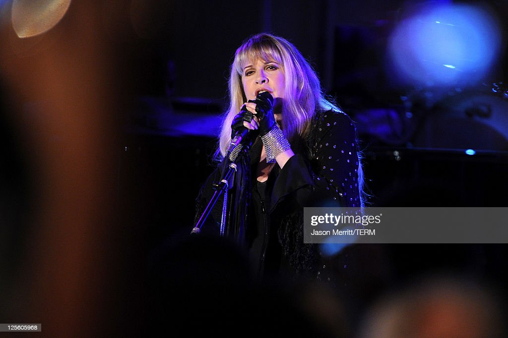 Musician Stevie Nicks performs at the 15th annual Entertainment Tonight Emmy party presented by Visit California at Vibiana on September 18, 2011 in Los Angeles, California.