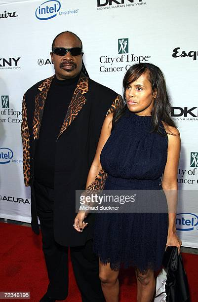 Musician Stevie Wonder and wife Karen MillardMorris arrivesat the Songs of Hope IV at the Esquire 360 house on November 1 2006 in Los Angeles...