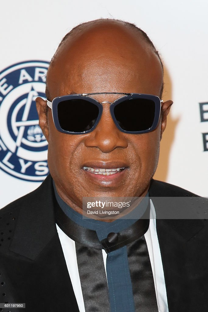 Musician Stevie Wonder arrives at The Art of Elysium presents Stevie Wonder's HEAVEN celebrating the 10th Anniversary at Red Studios on January 7, 2017 in Los Angeles, California.
