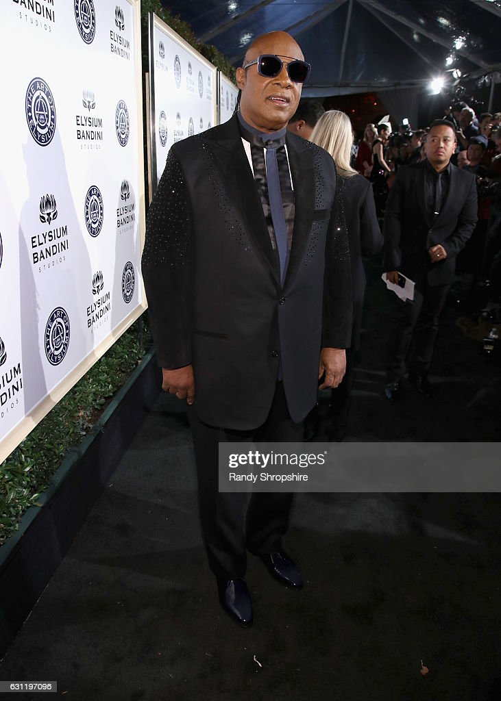 Musician Stevie Wonder attends The Art of Elysium presents Stevie Wonder's HEAVEN - Celebrating the 10th Anniversary at Red Studios on January 7, 2017 in Los Angeles, California.