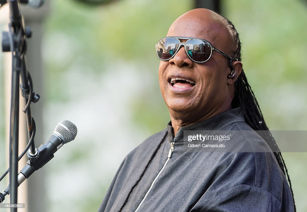 Musician Stevie Wonder performs during Wonder Moments - Songs In The Key Of Life Performance Tour at Dilworth Park on August 17, 2015 in Philadelphia, Pennsylvania.