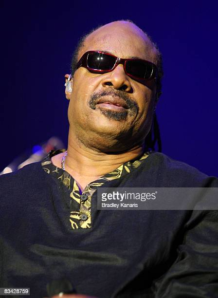 Musician Stevie Wonder performs on stage in concert at the Brisbane Entertainment Centre on October 25, 2008 in Brisbane, Australia.