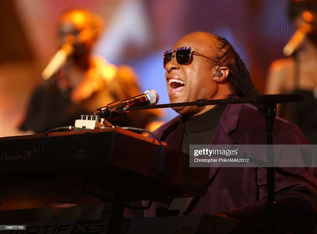 Musician Stevie Wonder performs onstage during the 40th American Music Awards held at Nokia Theatre L.A. Live on November 18, 2012 in Los Angeles, California.
