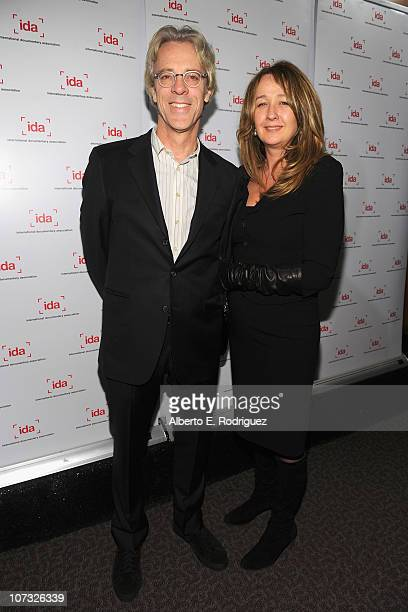 Musician Stewart Copeland and wife Fiona Copeland Spurlock arrive at the International Documentary Association's 26th annual awards ceremony at the...