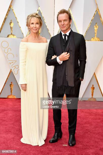 Musician Sting and producer Trudie Styler attend the 89th Annual Academy Awards at Hollywood Highland Center on February 26 2017 in Hollywood...